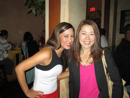 Kat Fabello and Saori Ogura at the WIM El Cholo Mixer on March 27, 2014
