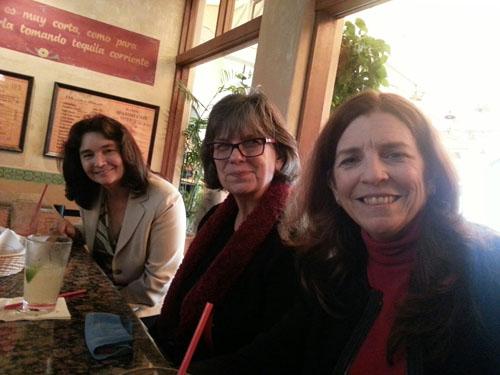 Hazel Breen, Denise Millard, and Kelly Etheridge at the WIM El Cholo Mixer on March 27, 2014