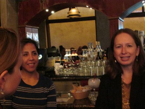 Carolina Lopez and Elaine Padilla at the WIM El Cholo Mixer on March 27, 2014