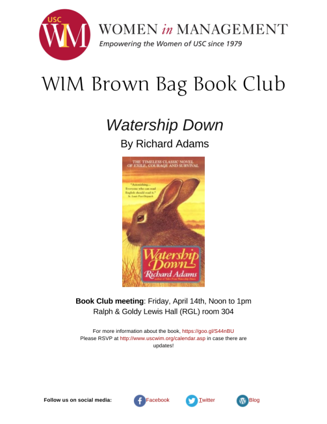 Watership Down flyer
