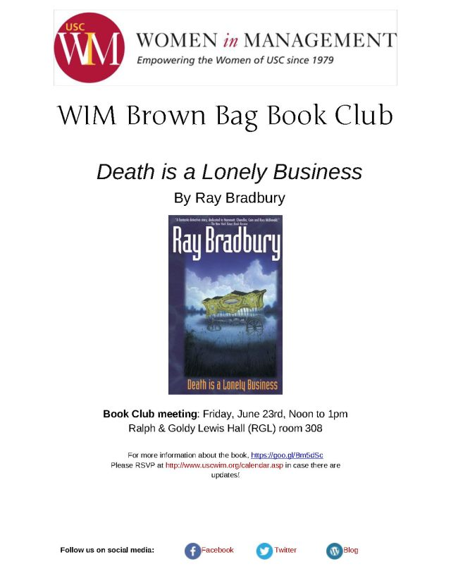 Death is a Lonely Business flyer